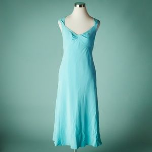 Jones New York 12 Blue Silk Celebration Dress NWT